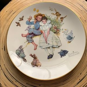 Norman Rockwell 1973 limited edition plates